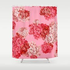 hydrangea (doubled) Shower Curtain