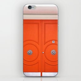 Palm Springs Orange Crush Door iPhone Skin