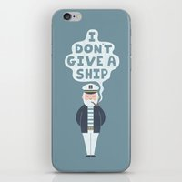 captain iPhone & iPod Skins featuring Indifferent Captain by Teo Zirinis