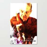 movie posters Canvas Prints featuring South of Heaven Movie posters by Outlaw Features, Ltd