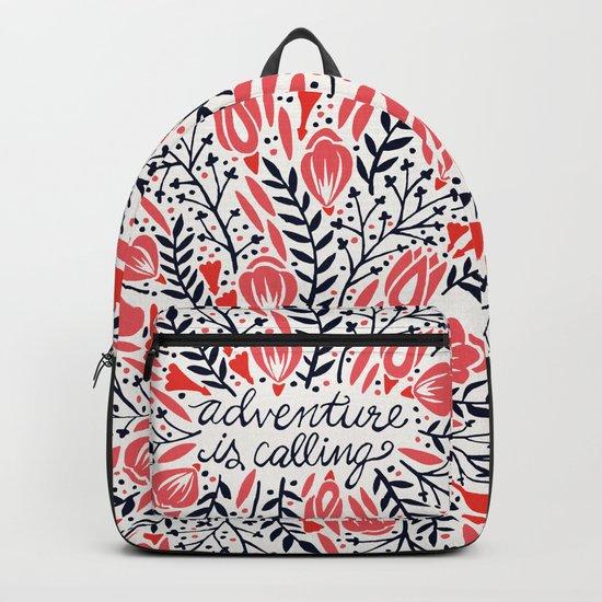 Adventure is Calling – Red & Black Palette Backpack