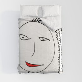 Girl with plait Comforters