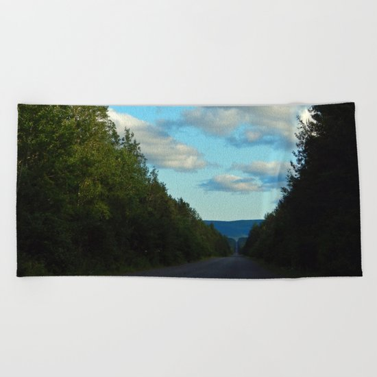 Mountain Road Beach Towel