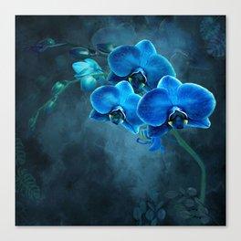 Moonlit Hawaiian Orchids Canvas Print