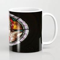 jesus Mugs featuring Jesus by Gaby Mabromata