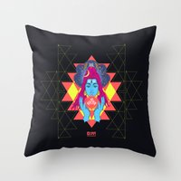 om Throw Pillows featuring Om by RJ Artworks