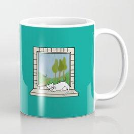 Plenty of imagination: a cat wants to run. Coffee Mug