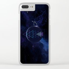 Geo Galactic Clear iPhone Case