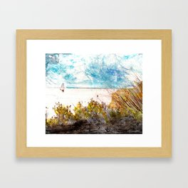 Banana River Windsurfer Framed Art Print