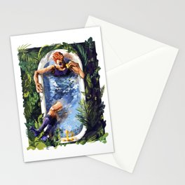 Crowley with Rubber Duck - Good Omens Stationery Cards