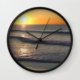Waves and Sun Wall Clock