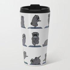 Black Pug Yoga Travel Mug
