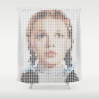 dorothy Shower Curtains featuring I Heart Dorothy Gale by Robotic Ewe