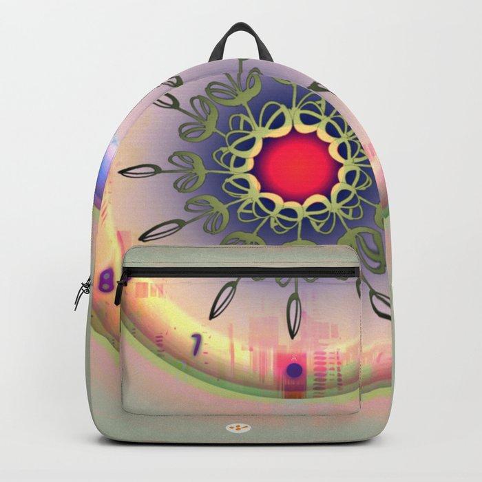 Spring Time - Floral Clock Backpack