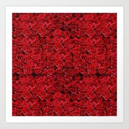 Bed of Roses by iamjohnlogan Art Print