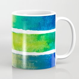 Tropical Earth Abstract Watercolor Coffee Mug