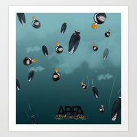 bombs away Art Prints featuring Bombs away by A Breath of Fresh Air