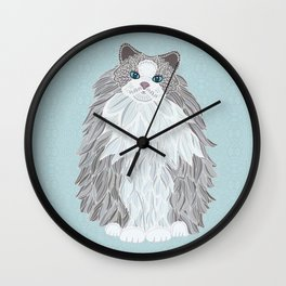 Aurora Ragdoll Wall Clock
