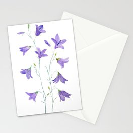 purple wildflower harebell watercolor Stationery Cards