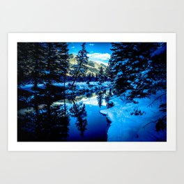 River Reflection Art Print