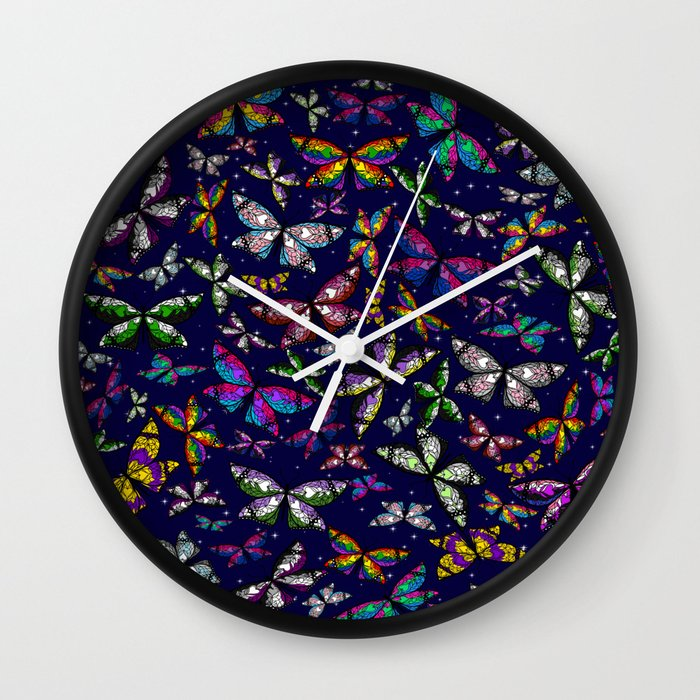 Fly With Pride: Butterfly Bonanza Wall Clock