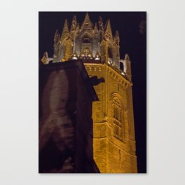 Tower and fish Canvas Print