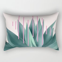Agave geometrics II - pink Rectangular Pillow