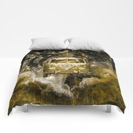 galaxy vintage voyager world map design 3 Comforters