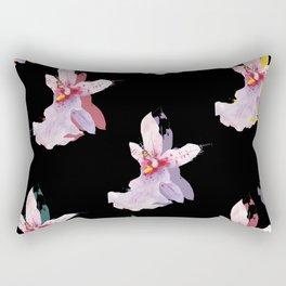 Black Orchid Rectangular Pillow