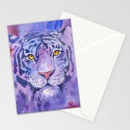 purple tiger Stationery Cards