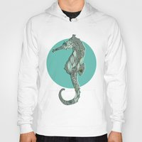 seahorse Hoodies featuring Seahorse by Rachel Russell