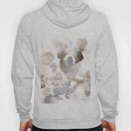 180630 Grey Abstract Watercolour Black Brown 12 | Watercolor Brush Strokes Hoody