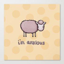 Anxious Sheep Canvas Print