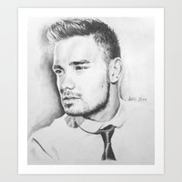 liam payne Art Prints featuring Liam Payne by Adele_F