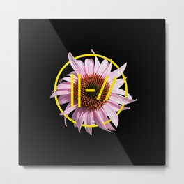 Trench Pink Flower Metal Print