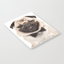 Helmut the Pug - Bow Tie Notebook