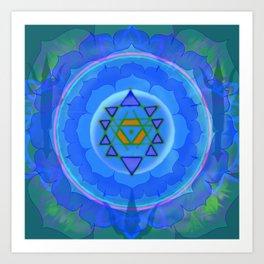 Inner Light Yantra Art Print