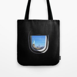Manhattan and Statue of Liberty from my Seat Tote Bag