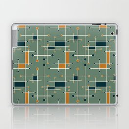 Intersecting Lines in Olive, Blue-green and Orange Laptop & iPad Skin