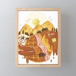 Breakfastscape Framed Mini Art Print