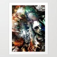 kurt cobain Art Prints featuring Kurt by Tordu Design JS Lajeunesse