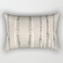 Birches-Winter Rectangular Pillow