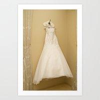 Wedding dress Art Print