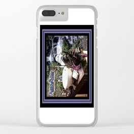 American Raccoon: Myths & Cleanliness Clear iPhone Case
