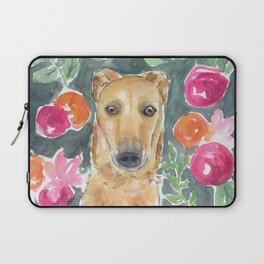 Whippet in the flowers Laptop Sleeve