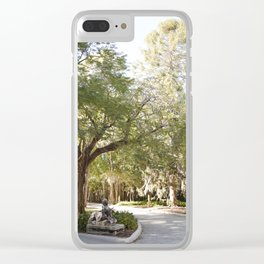 Dreamy Garden Path Clear iPhone Case