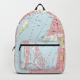 Vintage Map of Clearwater Florida (1974) Backpack