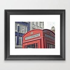 red telephone box Framed Art Print
