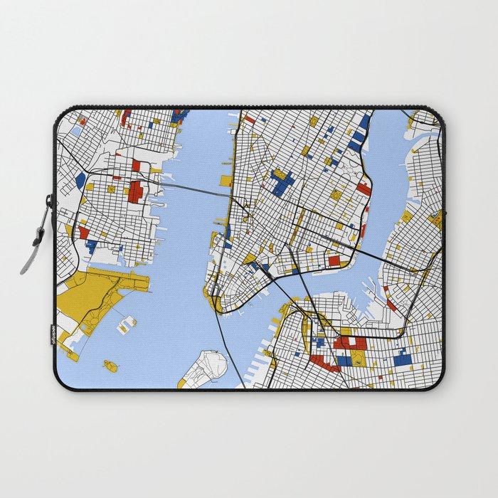 Street Map Of New York.New York City Map Art Print Street Map Art Laptop Sleeve By
