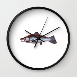 A Fish on Its Side With Mouth Open Wall Clock